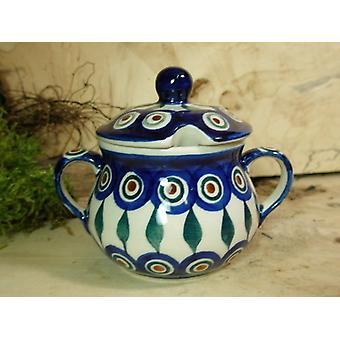 Zuccheriera, altezza 10 cm, diametro 12 cm, tradizione 10 - polonaise poterie - BSN 22010