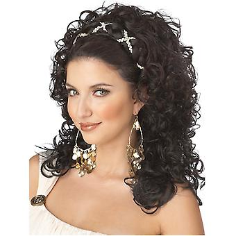Grecian Goddess Greek Roman Dark Brown Women Costume Wig with Headband