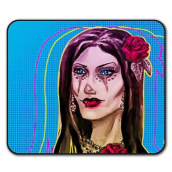 Girl Metal Creepy Horror  Non-Slip Mouse Mat Pad 24cm x 20cm | Wellcoda