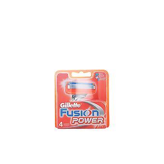 Gillette Fusion Power Cargador 4 Recambios para los hombres