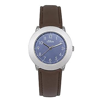 s.Oliver ladies wrist watch analog quartz leather SO-15018-LQR