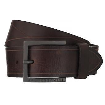 BALDESSARINI belt leather belts men's belts Leather Brown 6508