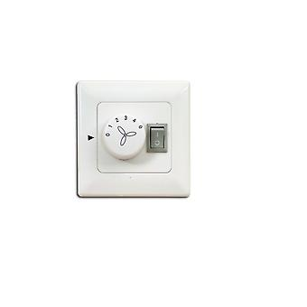 Wall switch / wall control for ceiling fans with lighting - flush mounted