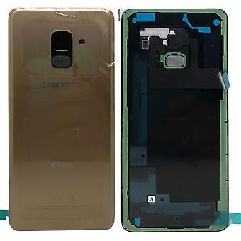 Samsung GH82-15557C Akkudeckel Deckel für Galaxy A8 A530F 2018 + Klebepad Gold
