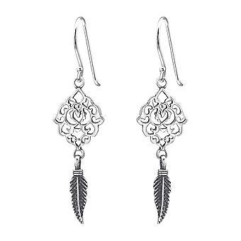 Filigree - 925 Sterling Silver Plain Earrings - W35306x