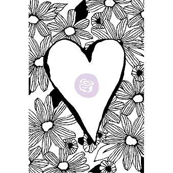 Christine Adolf Cling Rubber Stamps-Daisy Love
