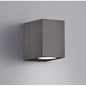 Trio Lighting Tiber Modern Anthracite Diecast Aluminium Wall Lamp