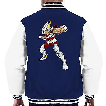 Saint Seiya Pegasus Fight Pose Men's Varsity Jacket