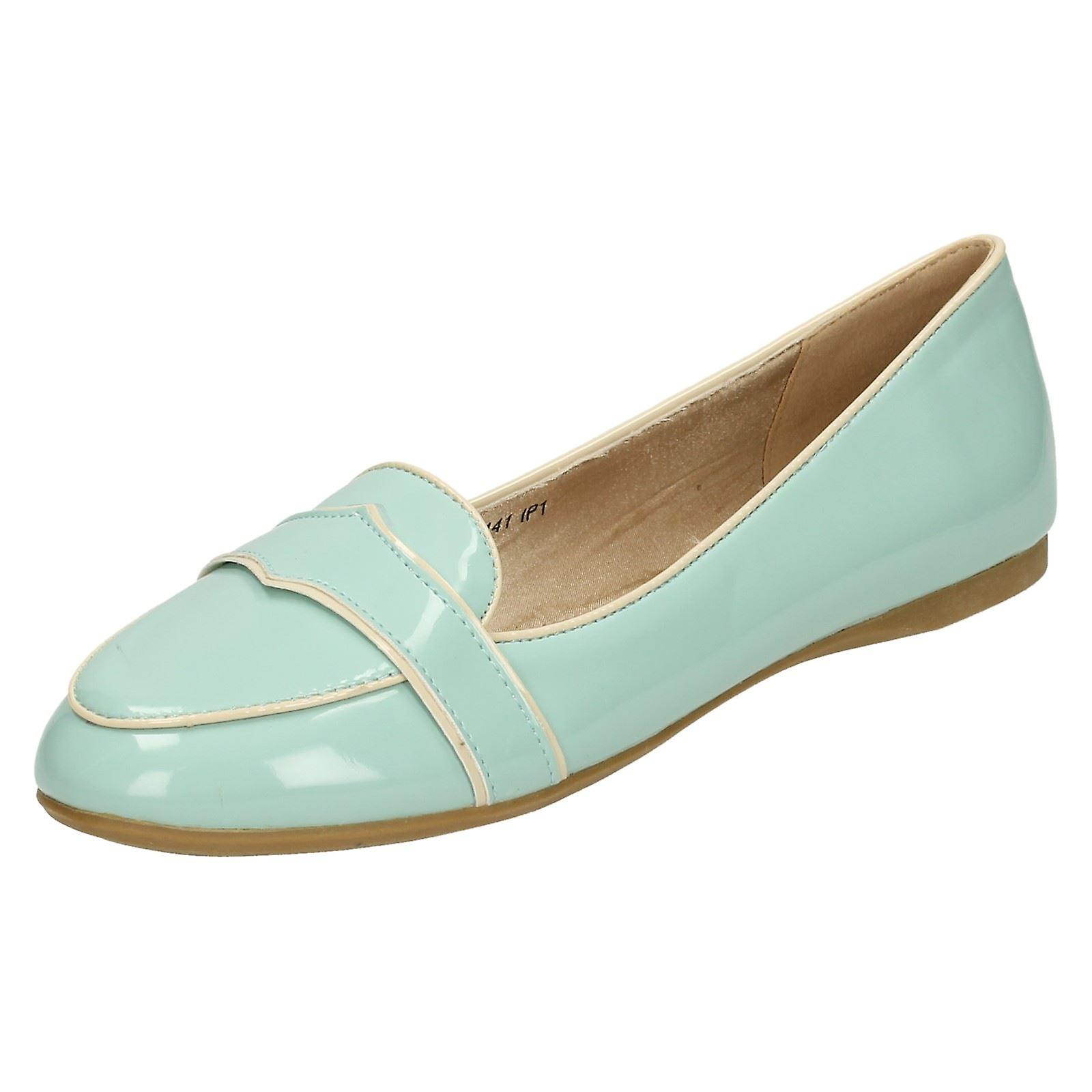 Ladies Spot su brevetto scarpe piatte Casual F80141 | Regalo ideale per tutte le occasioni  | Uomini/Donne Scarpa