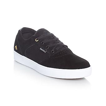 Emerica Black-White-Gold Figgy Dose Shoe