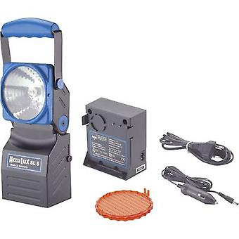 AccuLux Cordless handheld searchlight Black, Blue 456481 LED
