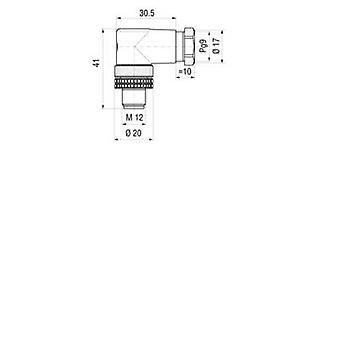 Hirschmann 933 166-100 ELWIST 4012 PG9 Contact Box And Connector, For M12 Connection Black