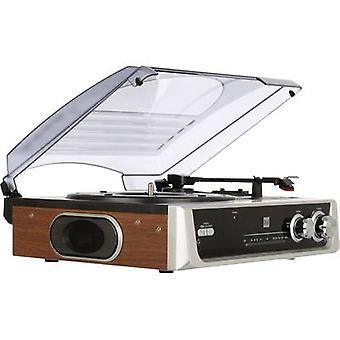 Tipo de DTR 50 tocadiscos doble impulsión de correa plata-negro