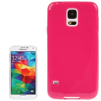 Etui TPU cas pour mobile Samsung Galaxy S5 / S5 neo rouge