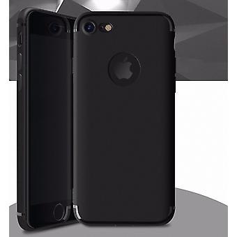 Apple iPhone 7 mais amortecedor tampa móvel case capa de silicone preto