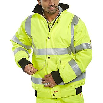 B-Dri Hi Vis Waterproof Super Bomber Jacket Yellow. ISO - Bd75