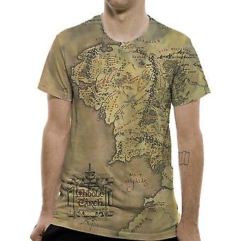 LOTR premium T-Shirt Middle Earth map, Middle-Earth