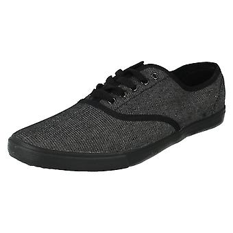 Mens Spot On Canvas Shoes Style - F8683