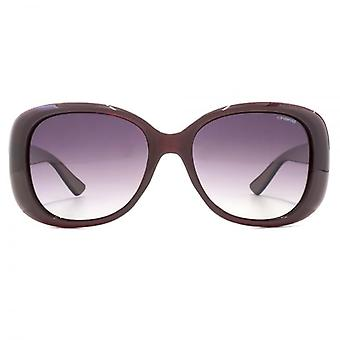Polaroid Contemporary Oval Sunglasses In Burgundy Polarised