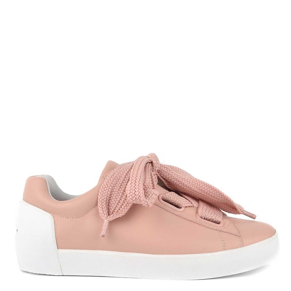 Ash chaussures Nina nue cuir Chunky Lace Up Trainer
