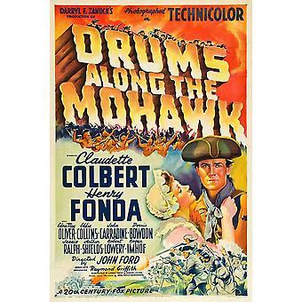Tambores a lo largo del Mohawk Movie Poster (11 x 17)