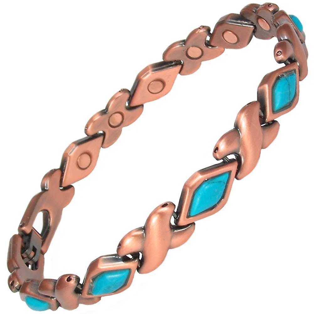 MPS® MEGANE NARROW Copper Rich Magnetic Bracelet + Free Links Removal Tool