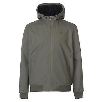 Crosshatch Mens Saverio Jacket Nylon Coat Top Lightweight Hooded Zip Mesh