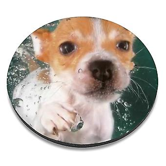 i-Tronixs - Underwater Dog Printed Design Non-Slip Round Mouse Mat for Office / Home / Gaming - 8