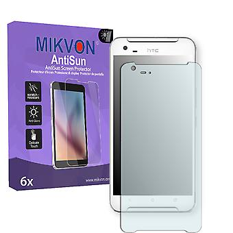 HTC One X9 Screen Protector - Mikvon AntiSun (Retail Package with accessories) (reduced foil)