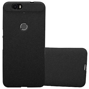 Cadorabo case for Huawei NEXUS 6 p - cell phone cover from TPU silicone mats frosted design - silicone case cover ultra slim soft back cover case bumper
