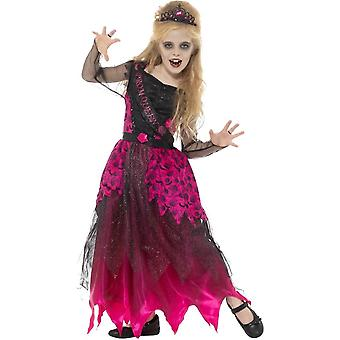 Deluxe Gothic Prom Queen Costume, Pink & Black, with Dress & Tiara