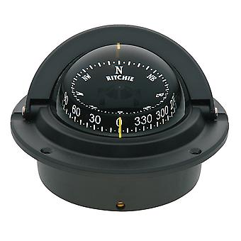 Ritchie F-83 Voyager Compass - Flush Mount - schwarz