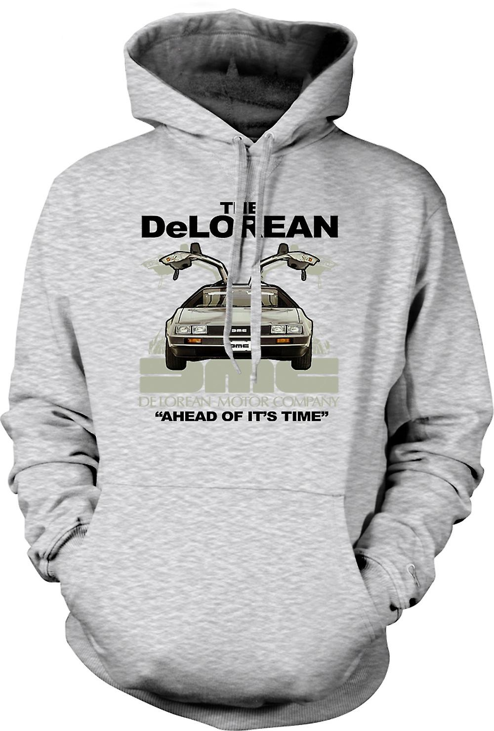 Mens Hoodie - DeLorean - Ahead Of Its Time