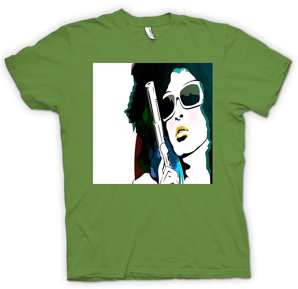 Hommes T-shirt - Pop Art Girl With Pistol - Cool Art