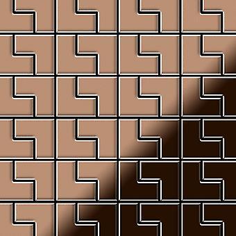 Metal mosaic Copper ALLOY Kink-CM