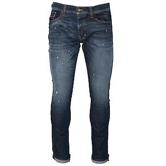 Diesel Diesel Slim-Carrot Fit Tepphar Blue Distressed Jean