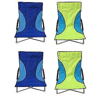 4 ナル折りたたみ低席椅子キャンプ ビーチチェア - 2 グリーン ・ 2 ブルー