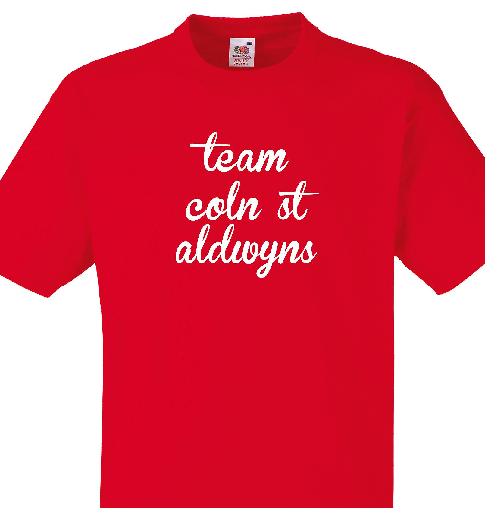 Team Coln st aldwyns Red T shirt