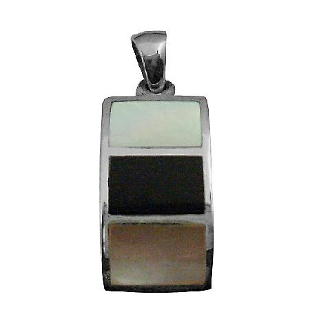 Reasonable Birthday Gift Sterling Silver Square Pendant