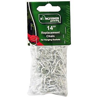 """Kingfisher HBC14 metall zink hängande korg reservdelar byte kedja Hanger passar korgar upp till 18 """"tum"""