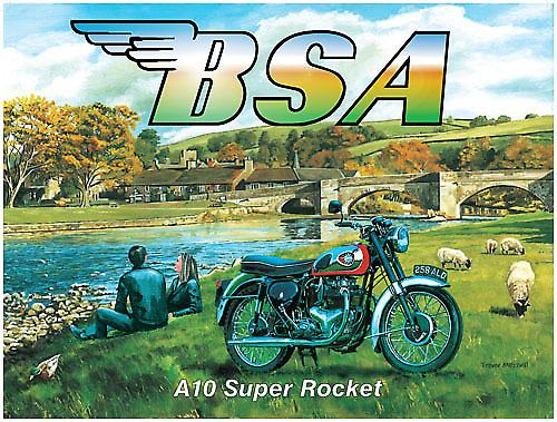 BSA A10 Super Rocket  metal sign     (og 2015)