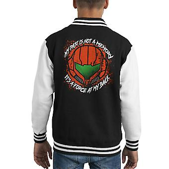 Samus My Past Is A Force Metroid Kid's Varsity Jacket