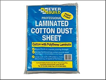 Everbuild Laminated Cotton Dust Sheet 3.6 x 2.7m