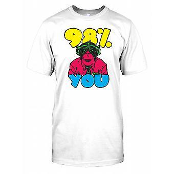 98% You - Chimpanzee Nerd Kids T Shirt