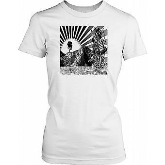 Japanese Samurai Art Ladies T Shirt