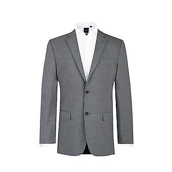 Dobell Mens grau Haifischhaut 2 Stück Anzug passen regelmäßige Kerbe Revers
