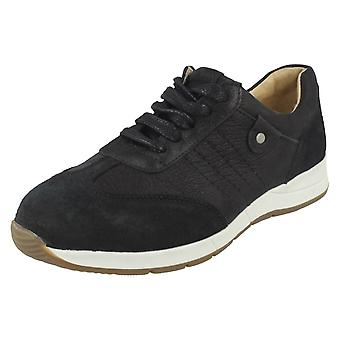 Ladies Easy B Lace Up Shoes Crystal Silver/Gold Size UK 5.5