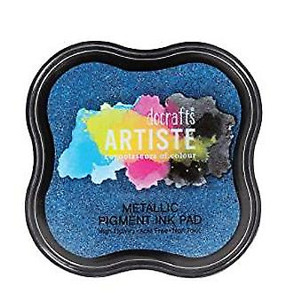 Tampon encreur de artiste Pigment métallique - Jean bleu (DOA 550123)