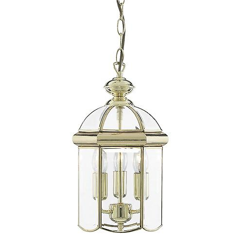 Searchlight 5133PB Lanterns Bevelled Glass Domed Polished Brass 3 Light Lantern