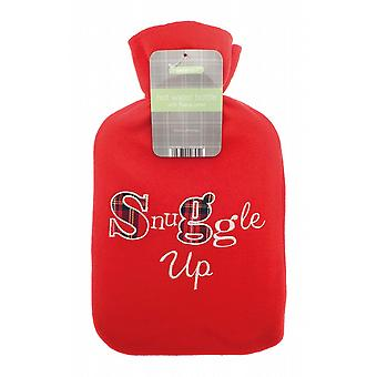 Applique Fleece Red 2L Hot Water Bottle: Snuggle Up